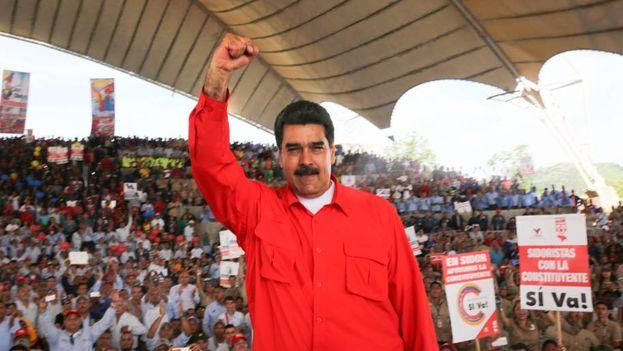 Maduro en el primer acto de campaña por la Constituyente este jueves en Guayana