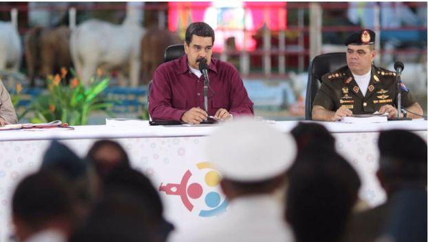 """Maduro afirmó que Maduro señaló que las Fuerzas Armadas profundizarán """"en su doctrina, en su concepción estratégica, en su moral, en su visión, en su estrategia"""". (@PresidencialVen)"""