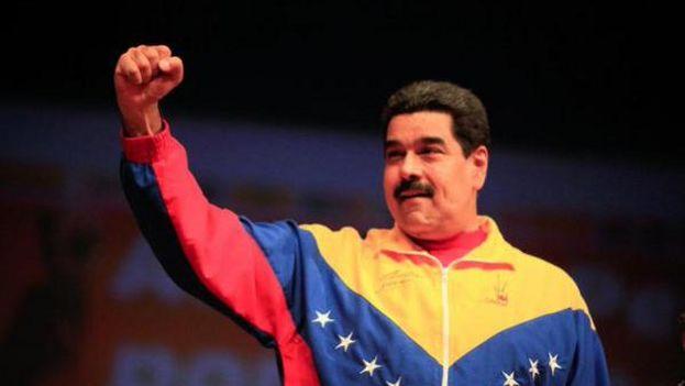 Maduro este lunes durante el encuentro de fuerzas del Gran Polo Patriótico. (@PSUV)