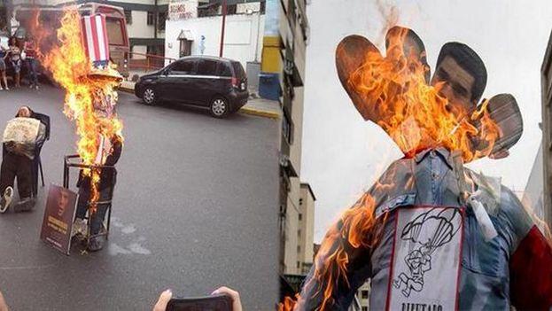 Maduro y Obama ardieron en las calles de Venezuela como reflejo de la división del país. (Twitter)