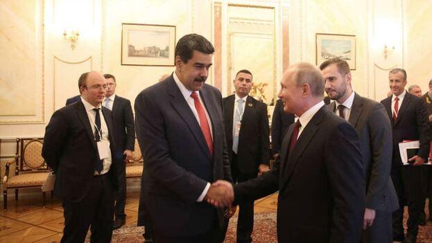 Maduro y Putin sostuvieron una reunión de alto nivel este miércoles, la primera desde que en enero Guaidó recibió el apoyo de decenas de países como presidente. (Nicolás Maduro)