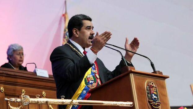 Maduro sostuvo que no dejará entrar en Venezuela a Luis Almagro, aunque invitó a otros organismos a supervisar las legislativas. (NicolasMaduro)