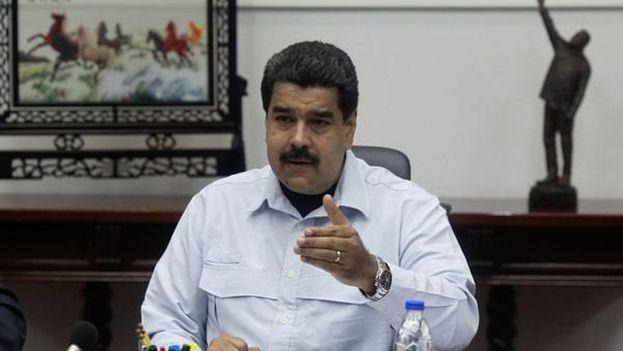 Maduro ayer durante el anuncio de la ampliación del cierre fronterizo. (@PartidoPSUV)