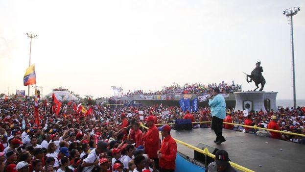 Maduro hizo campaña este miércoles en el estado de Vargas. (@NicolasMaduro)