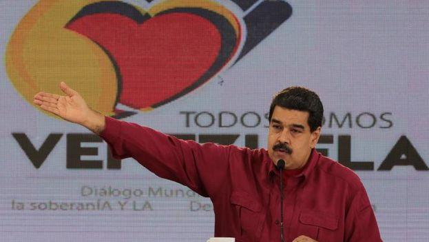 """Maduro sostiene que no habrá impunidad para quienes hayan cometido """"crímenes de terrorismo"""". (@PartidoPSUV)"""