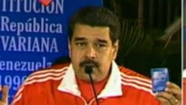 """Maduro pidió que el proyecto revolucionario no sea """"derrotado por el capitalismo"""". (@PartidoPSUV)"""