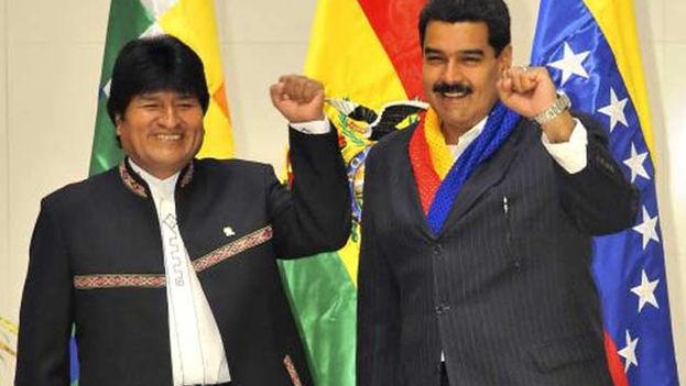 Maduro ha recibido este lunes el respaldo de sus aliados tradicionales, como Evo Morales. (EFE)