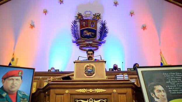 Maduro se vanaglorió, tras el desastroso balance de las finanzas venezolanas, de una gestión del covid que considera exitosa. (@NicolasMaduro)