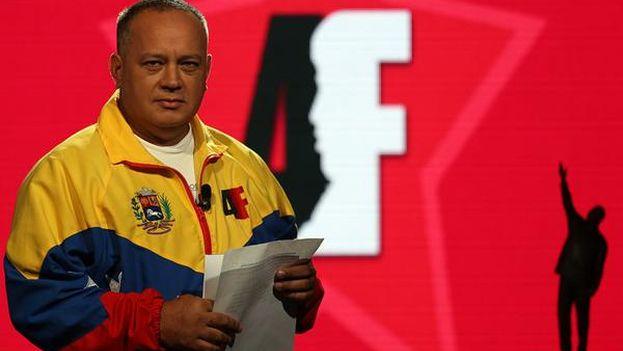 Maduro hizo el anuncio de cierre de fronteras en el programa televisivo del vicepresidente Diosdado Cabello, 'Con el mazo dando'. (@PartidoPSUV)