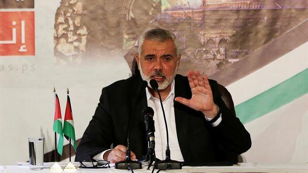 """""""Mañana viernes 8 de diciembre será un día de la ira y el comienzo de una nueva Intifada llamada 'la liberación de Jerusalén'"""", dijo Ismail Haniye, jefe político del movimiento. (EFE)"""