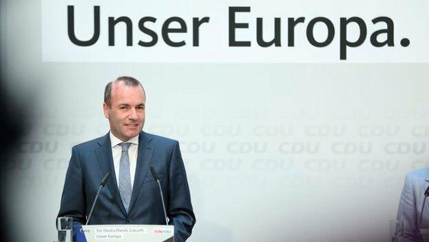 Manfred Weber, aspirante a presidir la Comisión, ha pedido un pacto a cuatro entre conservadores, socialdemócratas, liberales y verdes, para derender el proyecto europeo. (@ManfredWeber)