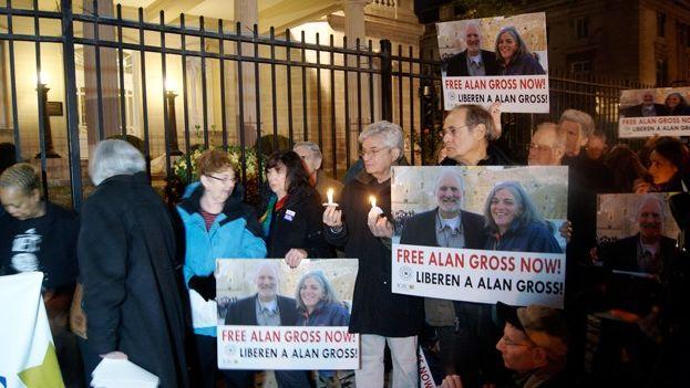Manifestación para pedir la liberación de Alan Gross.