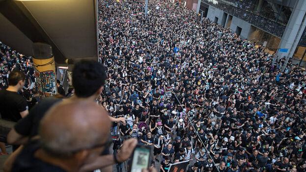 Manifestación en Hong Kong el pasado domingo 14 de junio. (EFE)