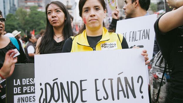 Manifestación en México el Día Internacional de las Víctimas de Desapariciones Forzadas. (Itzel Plascencia López / Amnesty International Mexico)