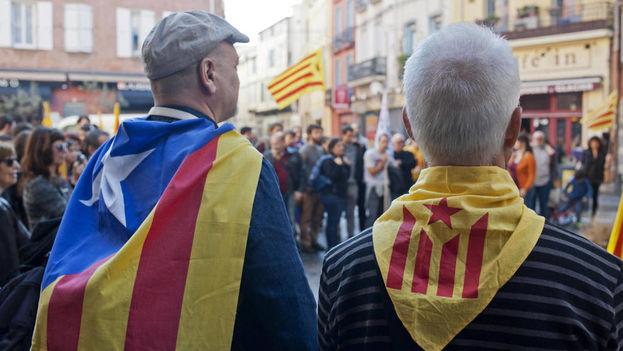 Manifestación celebrada en Perpiñán, Francia. (EFE)