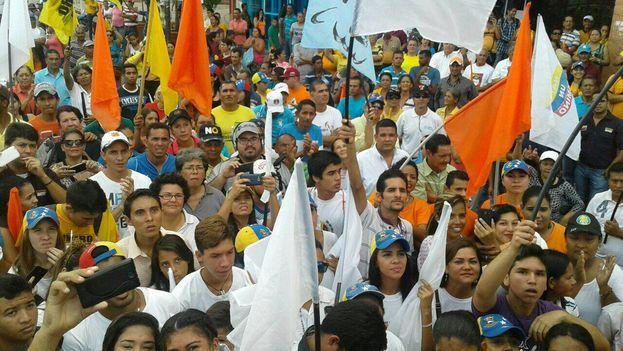 Manifestación a favor del revocatorio el pasado día 30 de julio en Cojedes (Venezuela). (@JulioBorges)