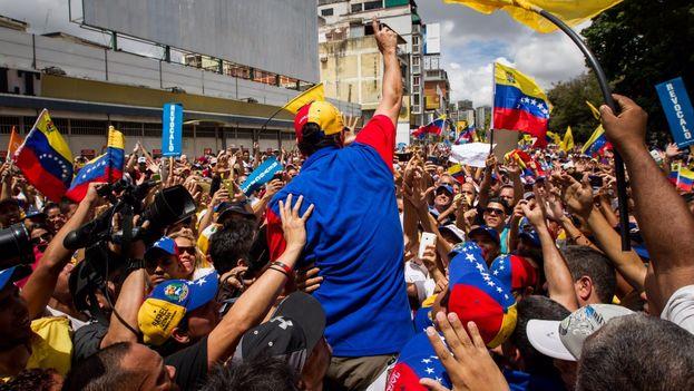 Manifestación del 1 de septiembre, conocida como Toma de Caracas. (EFE)