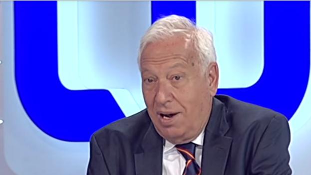 José Manuel García-Margallo durante la entrevista en Los Desayunos de TVE. (Captura de vídeo)