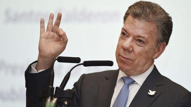 El presidente colombiano Juan Manuel Santos ha sido galardonado con el Premio Nobel de la Paz. (EFE)