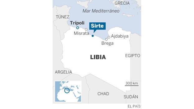 Mapa de Libia. (El País)