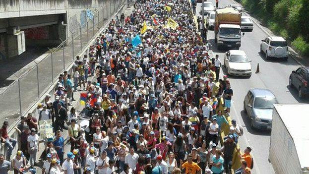 Marcha este jueves de la oposición en el estado de Miranda. (@unidadvenezuela)