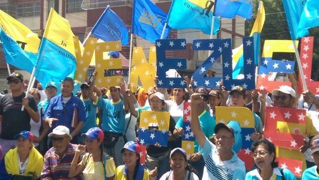 Marcha opositora en Zulia. (@unidadvenezuela)
