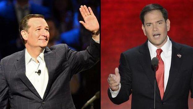 Marco Rubio y Ted Cruz.