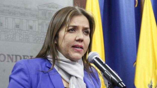 María Alejandra Vicuña fue nombrada vicepresidenta de Ecuador. (EFE)