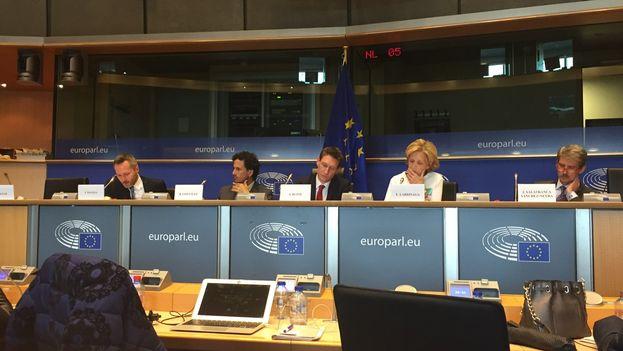Los opositores, entre ellos Rosa María Payá, pidieron que el acuerdo de diálogo y cooperación con Cuba que está elaborando la UE reconozca el derecho a elecciones libres e la Isla. (@RosaMaríaPayá)