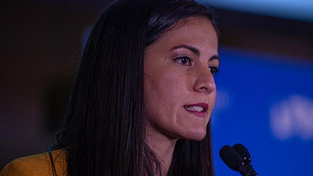 """Rosa María Payá, de Cuba Decide dijo que están a favor de las remesas de """"manera directa"""" sin la intervención del Gobierno cubano. (EFE/Giorgio Viera)"""