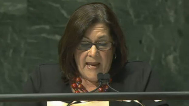 María Rubiales, vicecanciller de Nicaragua. (ONU)