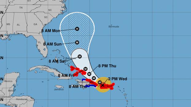 """María dejó este miércoles daños """"severos"""" en las infraestructuras y viviendas de Puerto Rico durante las seis horas en las que azotó la isla. (NOAA)"""