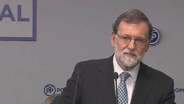 Mariano Rajoy anunció hoy su retirada de la vida política en cuanto se elija su sucesor al frente del partido. (PP)