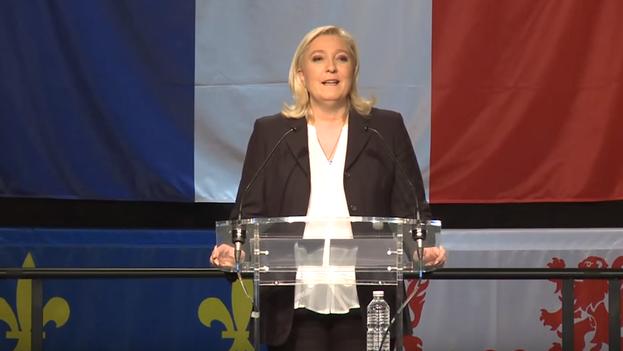 Marine Le Pen celebra los resultados de los comicios. (Twitter)