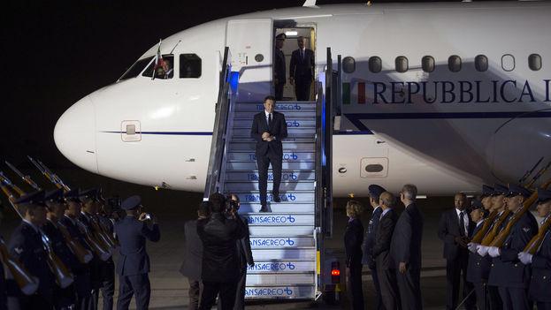 El primer ministro italiano, Matteo Renzi, este lunes en Bogotá. (Gobierno de Italia)