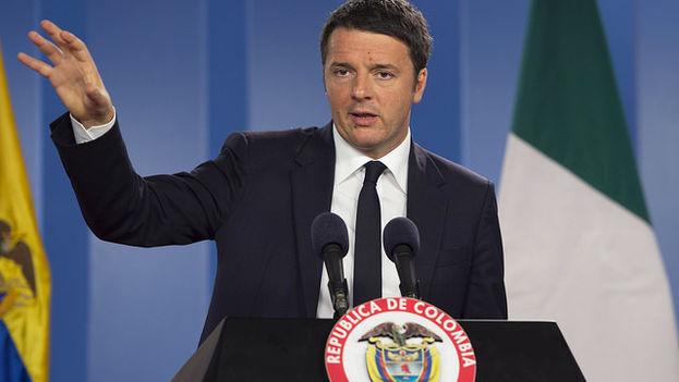 Matteo Renzi, durante su visita a Colombia, este lunes. (Flickr/Gobierno de Italia)