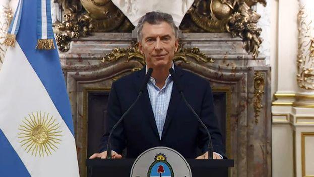 Mauricio Macri anunció este martes las negociaciones con el FMI. (Captura)