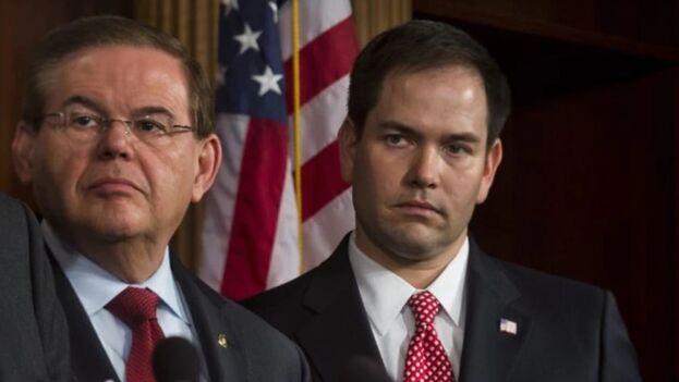 Menéndez y Rubio son los cubanoamericanos de mayor rango en el Congreso de los Estados Unidos. (EFE)