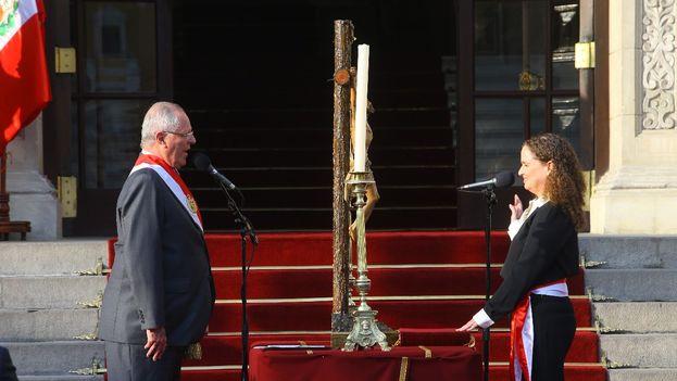 Mercedes Aráoz fue designada primera ministra por Pedro Pablo Kuczynski. (@prensapalacio)