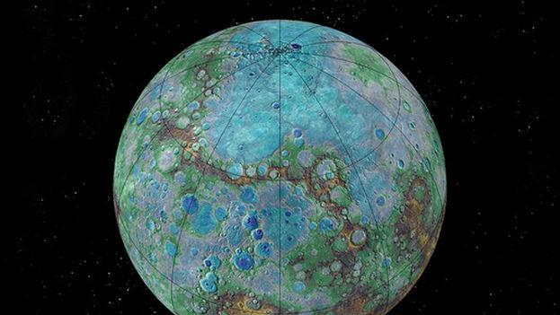La composición de Mercurio (en la imagen) y el exoplaneta K2-229b son parecidas, según un nuevo estudio. (NASA/JHUAPL/Carnegie Institution ofWashington/USGS/Arizona State University)