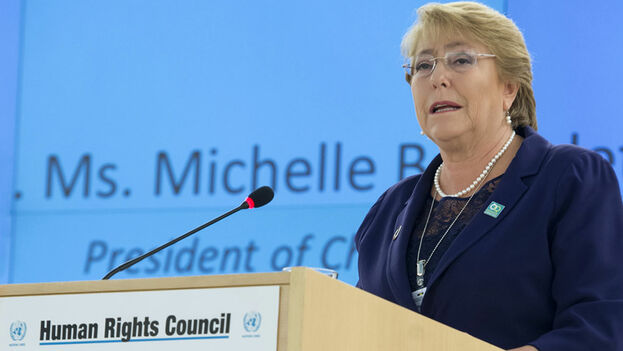 Michelle Bachelet ha presentado este viernes en Ginebra su informe sobre Venezuela. (UNHumanRights)