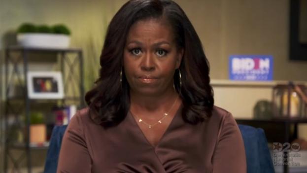 Michelle Obama, ex primera dama de EE UU, durante su intervención grabada para la convención demócrata. (Captura)