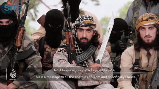 Miembros del Estado islámico llaman a musulmanes a atacar Francia (Al Hayat Media Center)