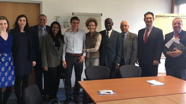 Miembros del OCDH y la Asociación Jurídica Cubana reunidos con funcionarios del Alto Comisinado para los Derechos Humanos en Ginebra el pasdo mes de abril. (observacuba.org)