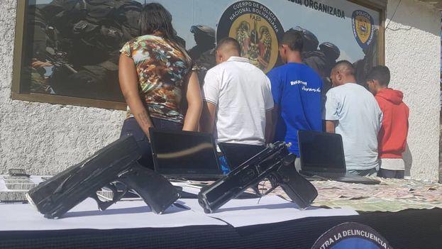 Miembros de la banda que presuntamente asaltó a la brigada médica cubana en Venezuela. (Policía Nacional Bolivariana)