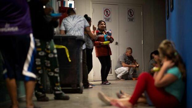 Migrantes cubanos el pasado 23 de marzo de 2019, en un albergue de la fronteriza Ciudad Juárez, en el estado de Chihuahua. (EFE)