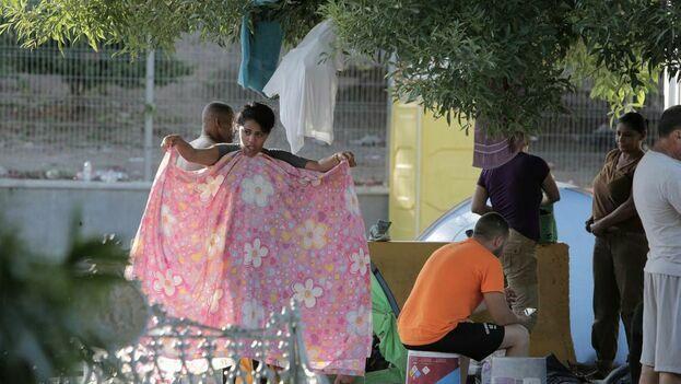 Migrantes cubanos en Matamoros, México. (José Iglesias)