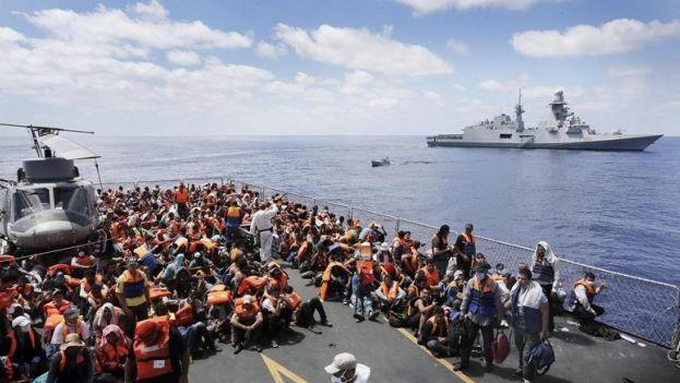 Resultado de imagen de Más de 3.000 inmigrantes rescatados en últimas 48 horas en el Canal de Sicilia