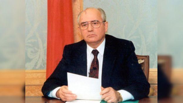 Mijaíl Gorbachov dimitió en agosto de 1991, cinco días antes de la ilegalización del PCUS. (CC)