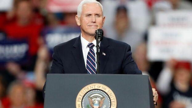 El jueves, el vicepresidente Mike Pence participará en un acto electoral de Latinos for Trump. (EFE)